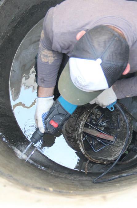 Как мы выполняем ремонт колодцев в Воскресенском районе
